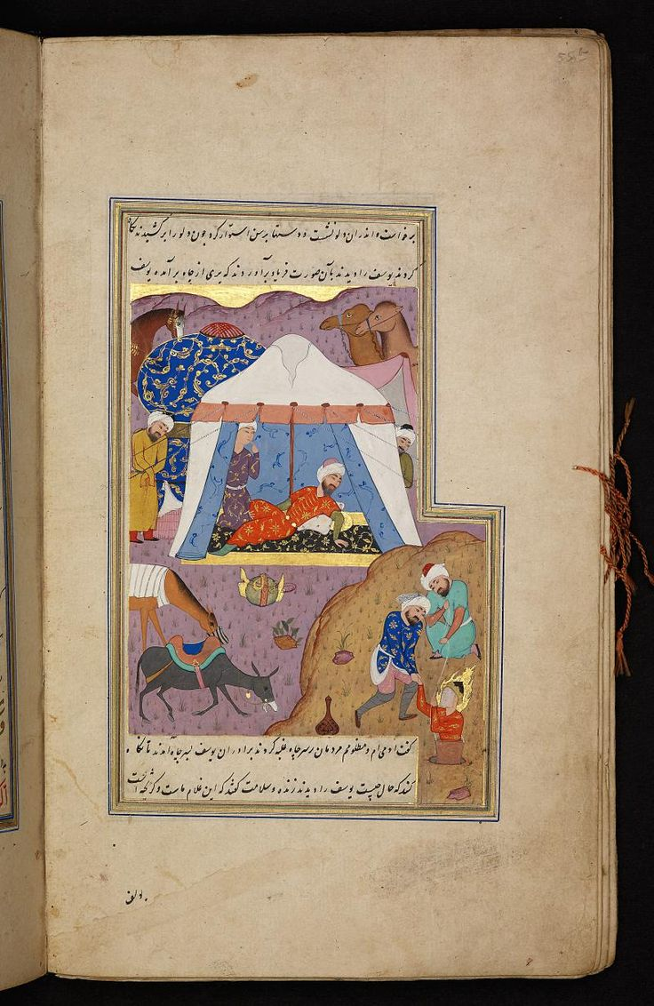 Rescue of Yūsuf (Joseph) from the fountain (Water Well) - Qisas al-anbiya. Digital Collections of the Berlin State Library