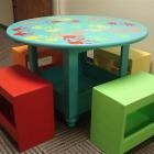 DIY Furniture Plan from Ana-White.com  Make a kids bench with just a drill and a jigsaw with these easy free plans!