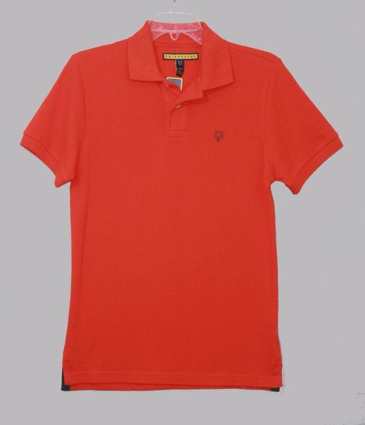 Prince & Fox Orange Polo Shirt XS Short Sleeve New Men's Fashion