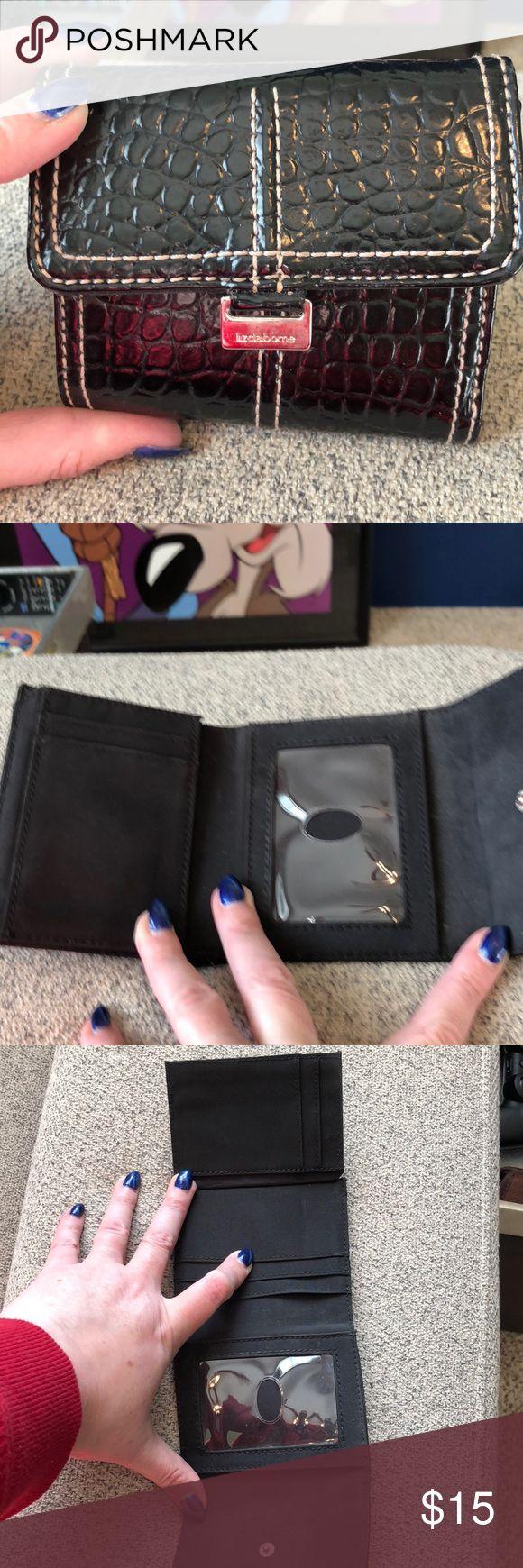 Cute expandable black pebble wallet Liz Claiborne  Cute expandable black pebble wallet Liz Claiborne Bags Wallets