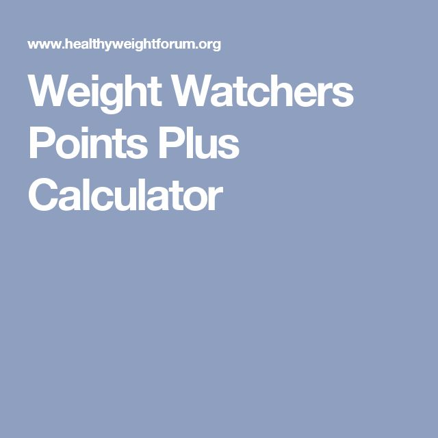 Weight Watchers Points Berechnen Weight Watchers Points Plus
