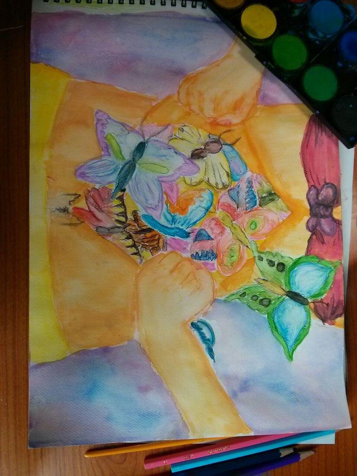 Feeling love in watercolour