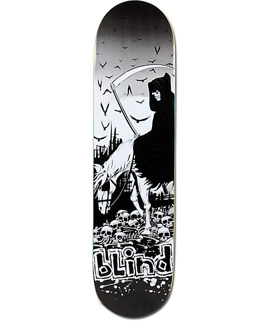 "Go into battle with faith in your board with the Blind SV Iron Horse 7.75"" skateboard deck."