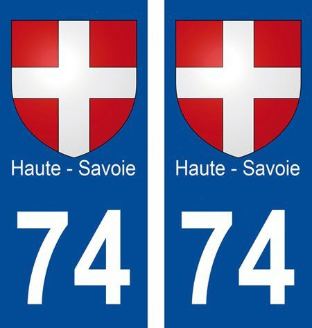 2 autocollants pour plaque d'immatriculation département 74 Blason Haute-Savoie: Frequently Bought Together * + * + * + * + Price for all:…