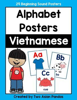Vietnamese Alphabet Posters by Two Asian Pandas | TpT