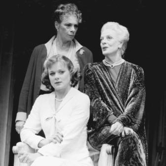 "Samantha Bond, Sara Kestelman, and Maggie Smith in ""Three Tall Women"" by Edward Albee, Wyndham's, London, October 1995"