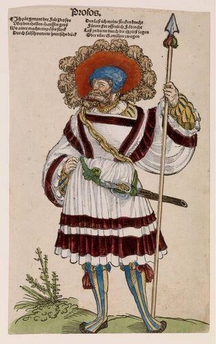 Erhard Schön - Profos - circa 1530. Dat wafenrock.
