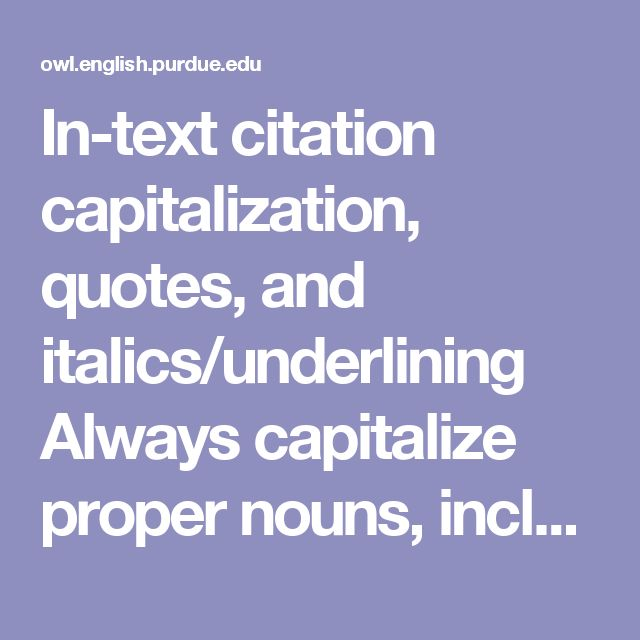 Essay title capitalization