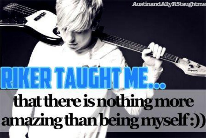 there 39 s nothing more amazing than being yourself riker lynch i love this quote r5 pinterest. Black Bedroom Furniture Sets. Home Design Ideas