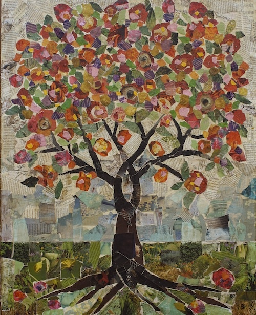 Large Tree Collage  jane desrosier