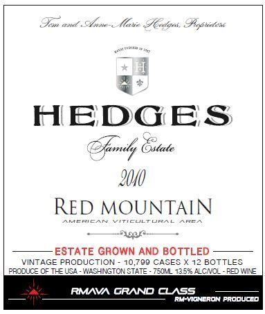 2010 Hedges Family Estate Red Mountain Red Blend 750 mL Wine
