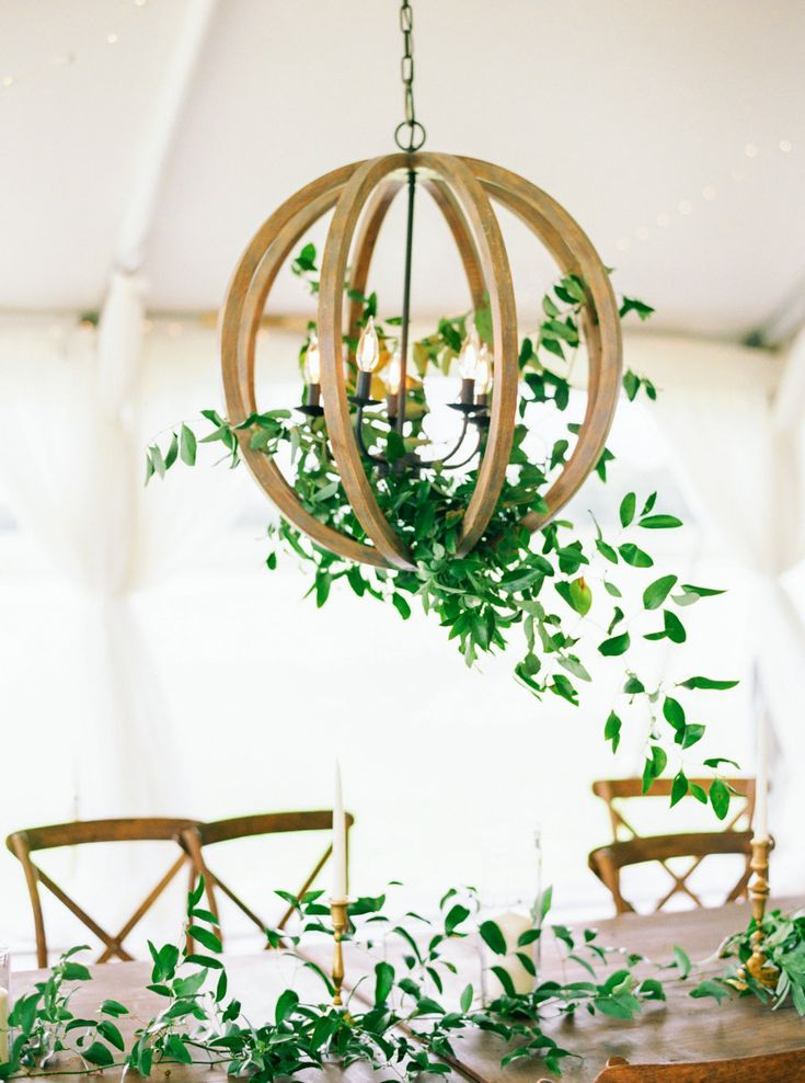 Hanging Greenery Orb Chandelier Photography Perry Vaile