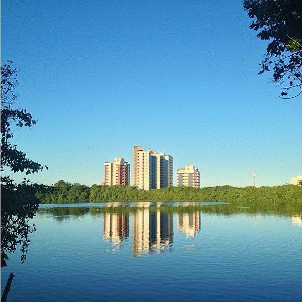 Bom dia, sexta! A foto de hoje é da Lagoa do Araçá, na Imbiribeira. Da pra caminhar, relaxar, praticar esportes e encontrar os amigos. Dica do @Dennis Calazans #recifedebolso #recife #imbiribeira #lagoa