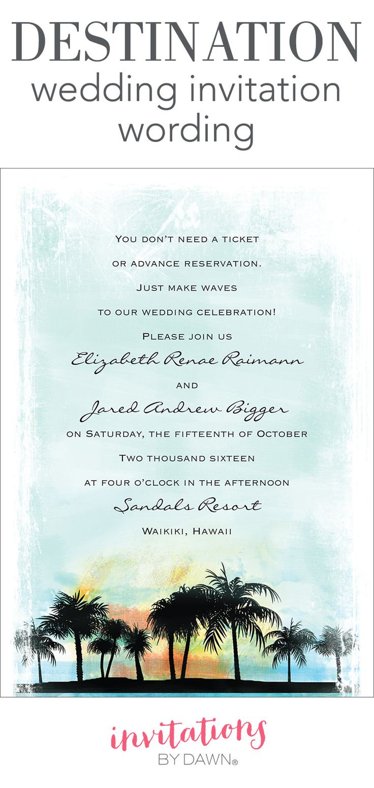 How Far In Advance Do You Send Destination Wedding Invitations ...