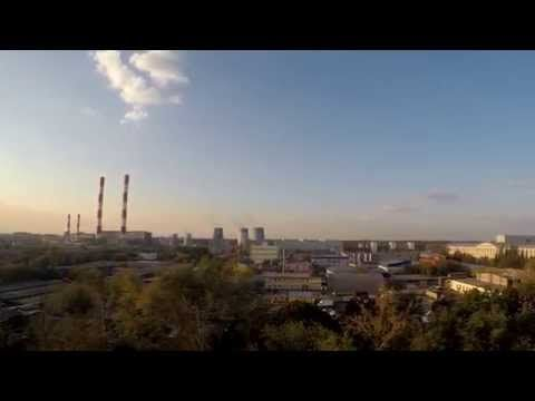 timelapse окраина Москвы, Гольяново, завод, трубы