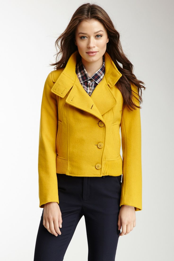 Cute jacket, love the yellow!
