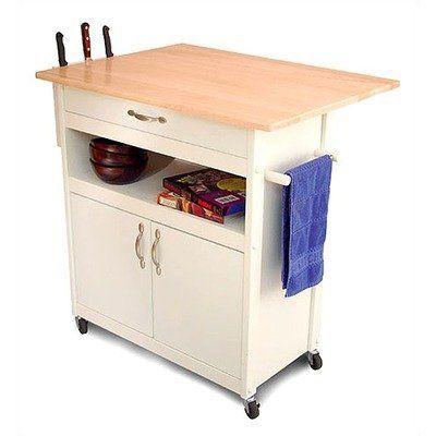 Catskill craftsmen drop leaf utility cart by catskill for Catskill craftsmen kitchen cabinets