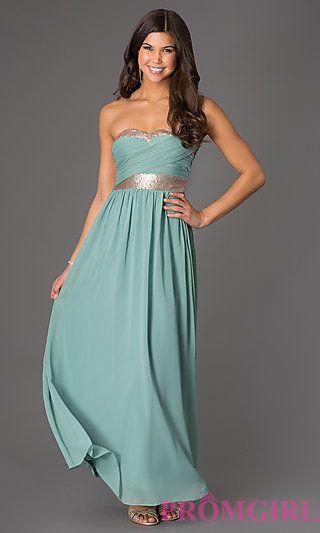 Strapless Floor Length Dress at PromGirl.com