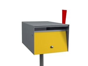 Box Design Wall Mount Modern Mailbox New | eBay