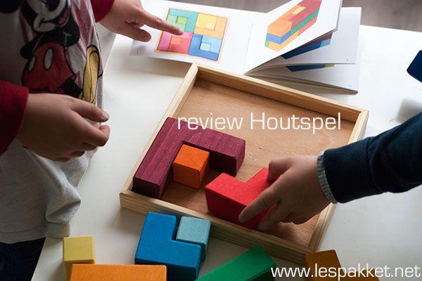 Review: Houtspel vierkant puzzelblok van Grimm's - jufBianca.nl - puzzel - bouwen - 3d bouwen - voorbeelden