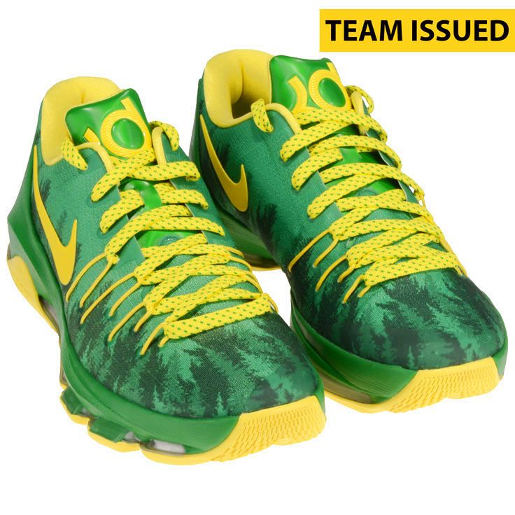 Oregon Ducks Fanatics Authentic Team-Issued Green and Yellow Kevin Durant Nike Zoom Basketball Shoes - $159.99