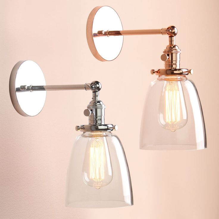 Industia Vintage Wall Light Sconce Lamp Glass Shade Edison Filament Lighting