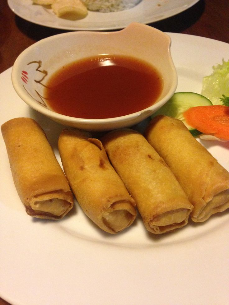 Seafood Spring Roll @ Headquarters Kuta Beach. Nice and hot, crispy pastry. 7 out of 10