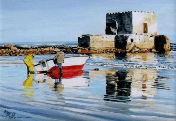 Fishermen early in the morning - Acrylic | Mynderd Vosloo | Painters Online