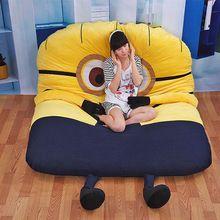 (1.2*2 m) kawaii serventi base di sonno del fumetto giallo molle della peluche dormire divani letto addensare letto singolo christamas regalo(China (Mainland))