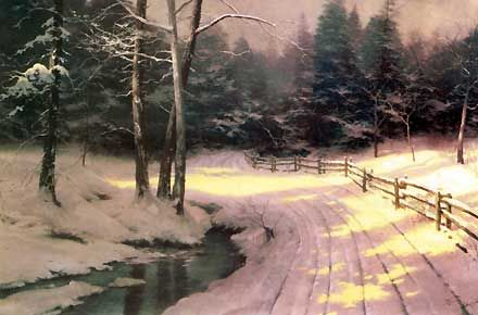 Winter Glen - Thomas Kinkade - World-Wide-Art.com - $1520.00 #Kinkade