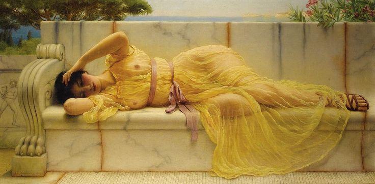Джон Уильям Годвард. Девушка в желтом платье