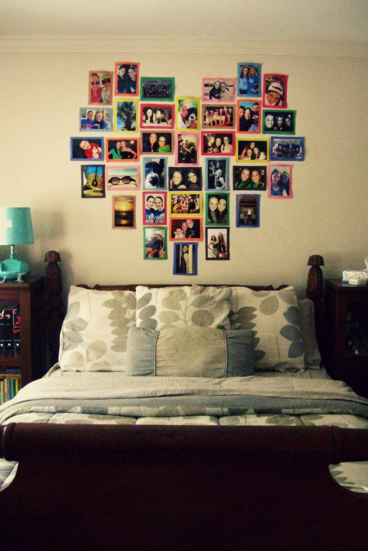 did this in my room :) pretty easy! #heart #pictures #walldecor #diy