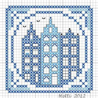 Part 7 Delft Tile Stitch-Along, 2012