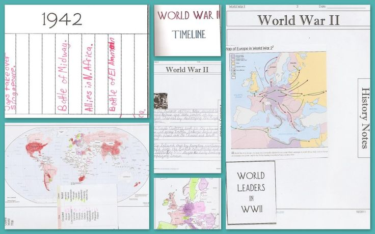 World War II Notebook Pages, Maps, Timelines & Online Resources
