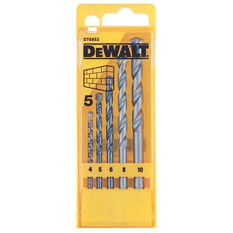 Order online at Screwfix.com. Drill bit set comprising the most popular sizes for plugs and fixings. Suitable for masonry, brick, blockwork and stone. FREE next day delivery available, free collection in 5 minutes.
