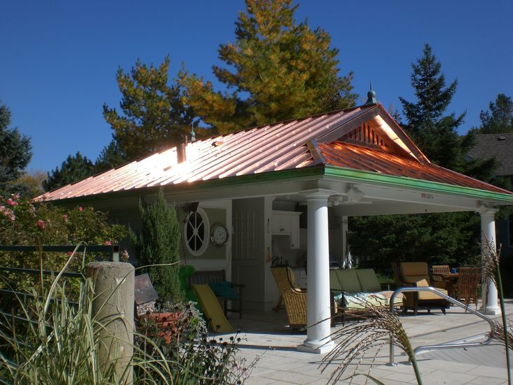 Copper Pool Cabana Metal Roofing Pinterest Copper