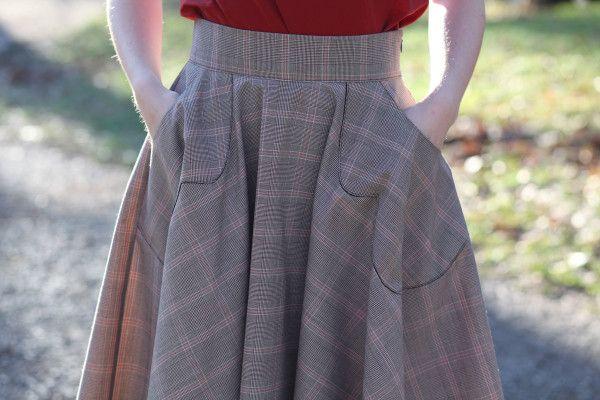 Megan Nielsen Veronika skirt FREE sewing pattern