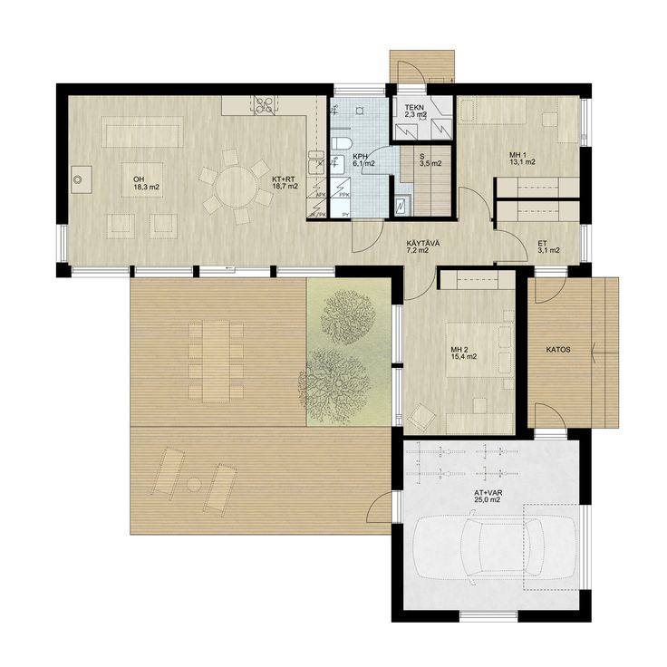138 Pala L — DesignTalo 88m2