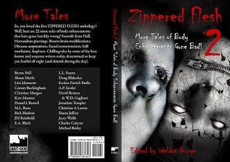 Full cover of Zippered Flesh 2 featuring my story Taut.
