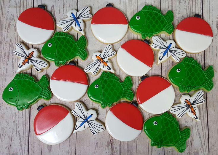 Fish themed sugar cookies, Huckleberry Finn themed birthday party