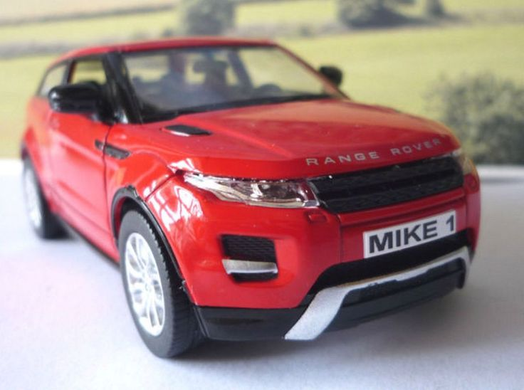 Personalised Plates Gift Red Land Rover Evoque Boys Toy Car