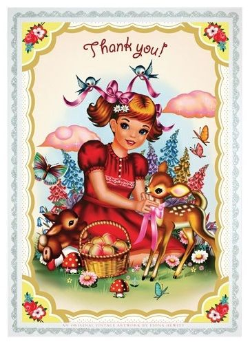 Beautiful postcard with the illustration Fiona Hewitt for Cotton Candy chronicles. Printed on 300 grs with a silver glitter edge. Also great in a frame for the bedroom ... Size 14.8 x 10.5 - € 1,00