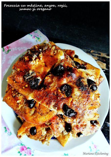 Kitchening: Focaccia cu măsline, anşoa, roşii, sumac şi oregan...