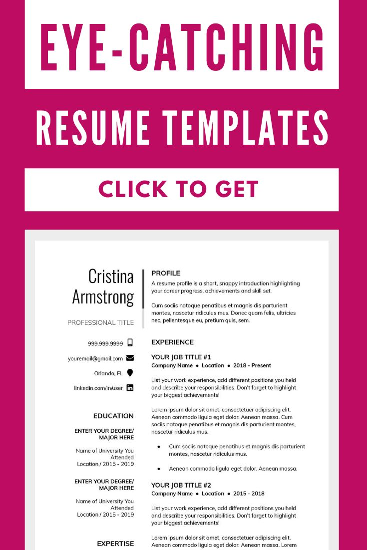 Make a great resume in minutes with this resume template