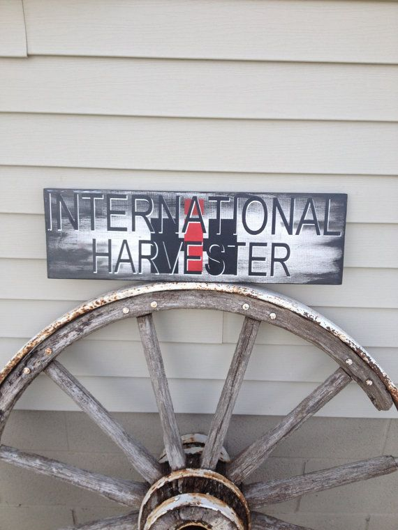 International Harvester, IH, hand painted wood sign, Man Cave Sign, Father's Day, 7 x 24 on Etsy, $40.00
