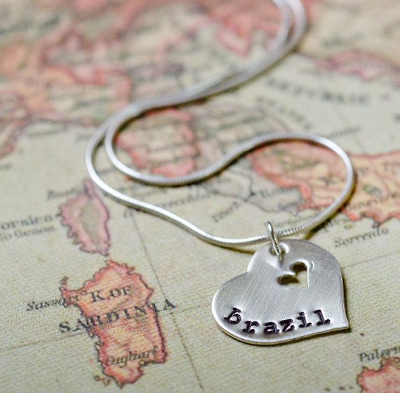 A PIECE OF MY HEART IS IN.....    When a missionary leaves to serve, he or she takes a piece of moms heart with them. This sterling silver necklace