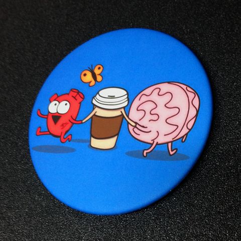 """Common Grounds"" Fridge Magnet – The Official Awkward Yeti Store - theAwkwardStore.com"