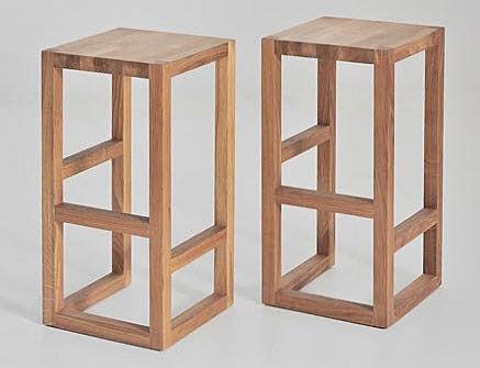 island style custom bar stools. stunning.