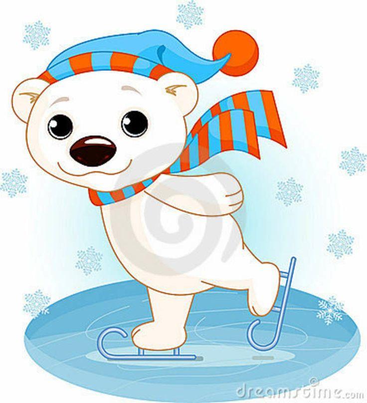 Полярный медведь на коньках льда Стоковое Изображение ...