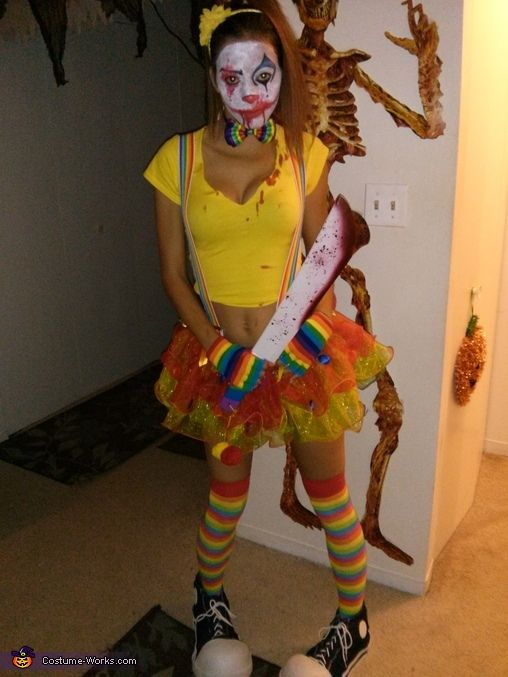 Brittany: My mom started me on a clown collection when I was a kidshe has no idea I would become a killer clown for Halloween!. Photo 2 of 2.